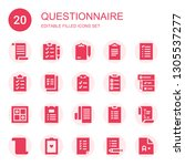 questionnaire icon set.... | Shutterstock .eps vector #1305537277