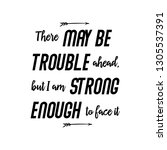 there may be trouble ahead..... | Shutterstock .eps vector #1305537391