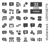 forum icon set. collection of... | Shutterstock .eps vector #1305538774