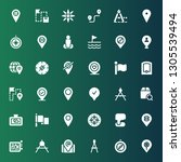 gps icon set. collection of 36...