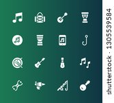 bass icon set. collection of 16 ... | Shutterstock .eps vector #1305539584