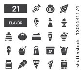 flavor icon set. collection of... | Shutterstock .eps vector #1305541174