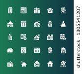 residential icon set.... | Shutterstock .eps vector #1305541207