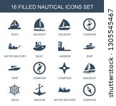 nautical icons. trendy 16... | Shutterstock .eps vector #1305545467