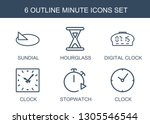 6 minute icons. trendy minute... | Shutterstock .eps vector #1305546544