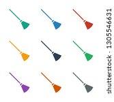 broom icon white background.... | Shutterstock .eps vector #1305546631