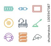 device icons. trendy 9 device... | Shutterstock .eps vector #1305547387
