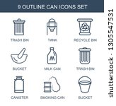 can icons. trendy 9 can icons.... | Shutterstock .eps vector #1305547531