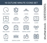 minute icons. trendy 16 minute... | Shutterstock .eps vector #1305550051