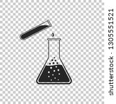 test tube and flask   chemical... | Shutterstock .eps vector #1305551521