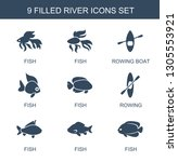 river icons. trendy 9 river... | Shutterstock .eps vector #1305553921