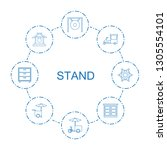 8 stand icons. trendy stand... | Shutterstock .eps vector #1305554101