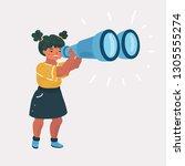 vector cartoon illustration of... | Shutterstock .eps vector #1305555274