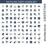tasty icons. trendy 100 tasty... | Shutterstock .eps vector #1305557344