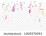 many falling colorful tiny... | Shutterstock .eps vector #1305570391