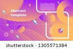 vector stylish modern abstract... | Shutterstock .eps vector #1305571384