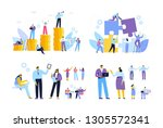 business people. cooperation.... | Shutterstock .eps vector #1305572341