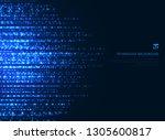 abstract technology blue magic... | Shutterstock .eps vector #1305600817