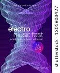 techno event. dynamic gradient... | Shutterstock .eps vector #1305603427