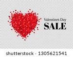 valentines day poster  vector... | Shutterstock .eps vector #1305621541