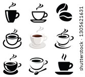 coffee icon collection   vector ... | Shutterstock .eps vector #1305621631