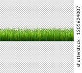 grass border isolated... | Shutterstock . vector #1305624007