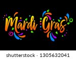 mardi gras vector isolated...   Shutterstock .eps vector #1305632041