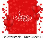 abstract happy valentine's day... | Shutterstock .eps vector #1305632044