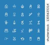 editable 25 stem icons for web...   Shutterstock .eps vector #1305635314