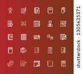 editable 25 notepad icons for...   Shutterstock .eps vector #1305635371