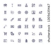editable 36 business icons for... | Shutterstock .eps vector #1305635467