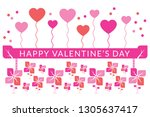 valentines day background with... | Shutterstock . vector #1305637417