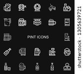 editable 22 pint icons for web...   Shutterstock .eps vector #1305639721