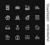 editable 16 residence icons for ... | Shutterstock .eps vector #1305639931