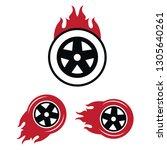 racing flat labels set. blaze... | Shutterstock .eps vector #1305640261