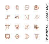 editable 16 atm icons for web... | Shutterstock .eps vector #1305641224