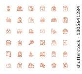 editable 36 merchandise icons... | Shutterstock .eps vector #1305641284