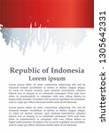 flag of indonesia  republic of... | Shutterstock .eps vector #1305642331
