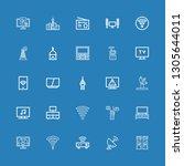 editable 25 antenna icons for... | Shutterstock .eps vector #1305644011