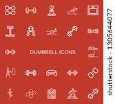 editable 22 dumbbell icons for... | Shutterstock .eps vector #1305644077