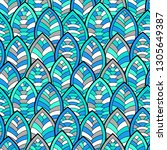 seamless abstract pattern.... | Shutterstock .eps vector #1305649387