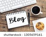 blog text concept   Shutterstock . vector #1305659161