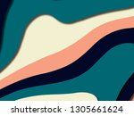 colorful carving art.paper cut...   Shutterstock . vector #1305661624