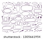 hand drawn infographics.... | Shutterstock .eps vector #1305661954