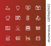 editable 16 course icons for... | Shutterstock .eps vector #1305665431