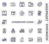 editable 22 cardboard icons for ... | Shutterstock .eps vector #1305665494