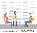 infocharts and infographics... | Shutterstock .eps vector #1305667024