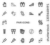 editable 22 pair icons for web... | Shutterstock .eps vector #1305668491