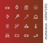 editable 16 joy icons for web... | Shutterstock .eps vector #1305671551
