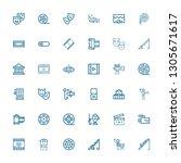 editable 36 reel icons for web... | Shutterstock .eps vector #1305671617